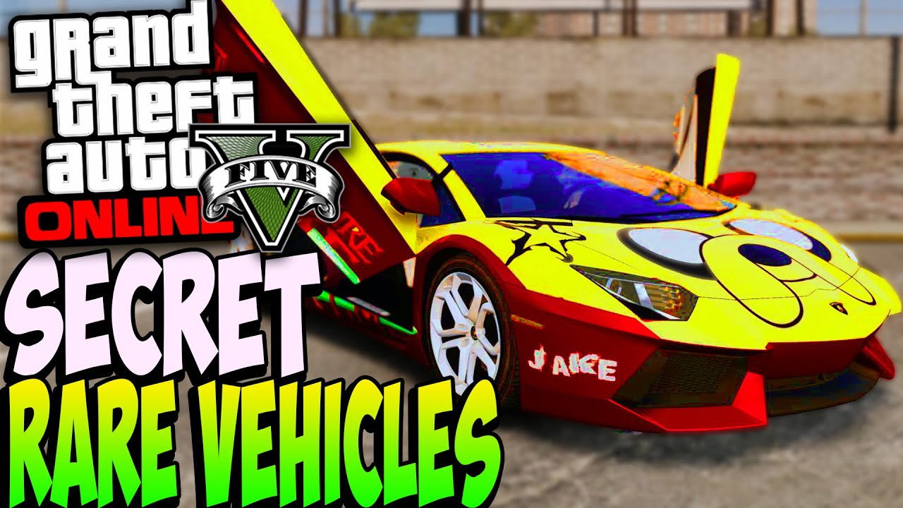 Gta 5 Online Rare Secret Cars Online 1 20 1 22 Secret Rare