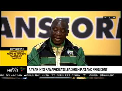 A year into Ramphosa's leadership as ANC President