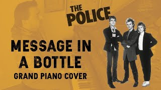 Message in a Bottle - The Police - Grand Piano Cover [w/ lyrics] видео