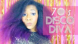 DIY Last Minute Halloween Costume | 70's Disco Diva