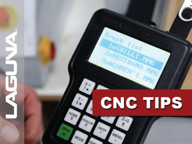 CNC Tech Tips - Using Break List - Vol 503   Laguna Tools