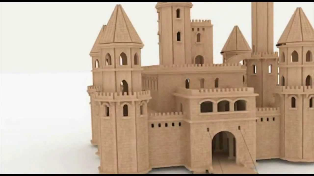 Fairytale castle dollhouse cnc router laser cutting pattern youtube pronofoot35fo Images