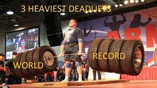 3 Heaviest Deadlifts 2012-2014 (Including World Record)
