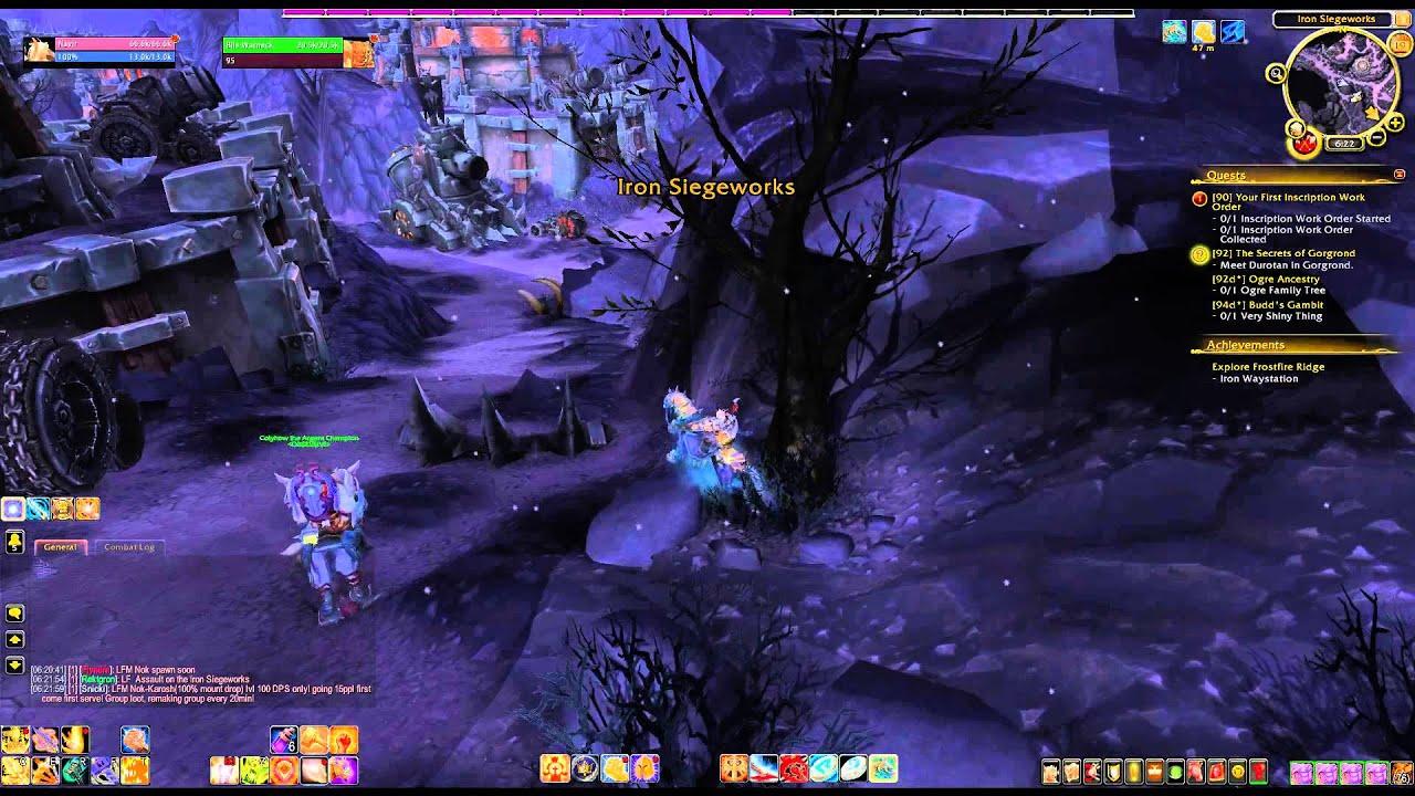 Wod Where Is Bones Of Agurak In Frostfire Ridge Youtube