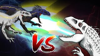 Dinosaurs Battle | Indominus Rex VS 2x Indoraptors