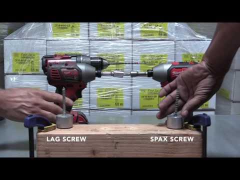 Spax Screw vs Lag Screw