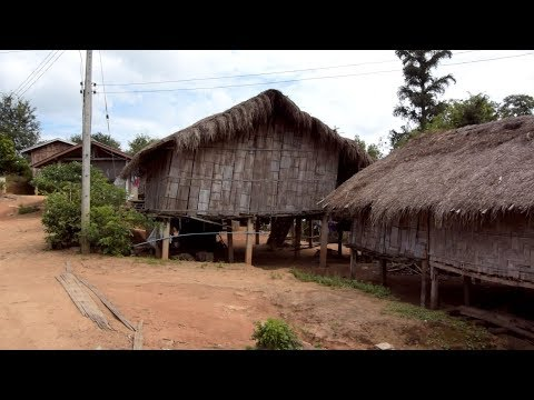 Home stay at Lahu(hill tribe) village in ChiangRai Thailand(タイ・チェンライのラフ族の家にホームステイ)