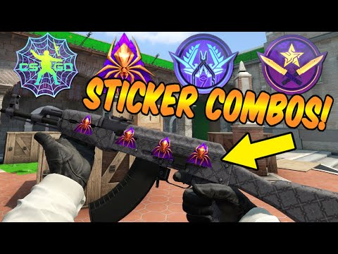 CS:GO - Operation Shattered Web Sticker Combos! (NEW COLLECTION SKINS!)