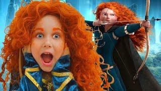 Merida Cosplay for kids Julia Pretend Brave in a Real Princess dress