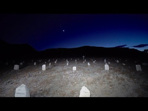Creepy Old West Cemetery at Night : Goldfield, Nevada
