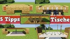 5 Tipps für einen besseren Tisch in Minecraft | Minecraft Tisch bauen deutsch Tutorial