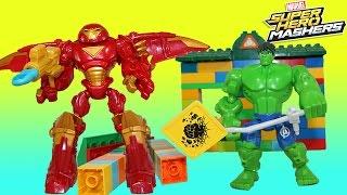 Marvel Super Hero Mashers Hulk Buster vs Hulk Mixing Calms Down Hulk