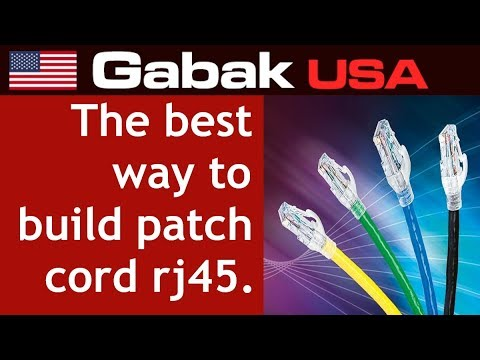 The best way to build patch cord rj45