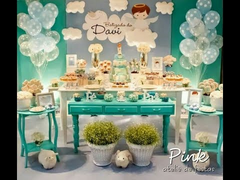 Bautizo de ni o mesa de dulces bautizmo boys decoracion for Arreglos de mesa para bautizo