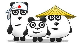 ТРИ ПАНДЫ Приключение на острове в Японии в мультяшной игре для детей ПУРУМЧАТА