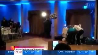 Нокаут на свадьбе! Мужчина нокаутировал невесту, делая сальто