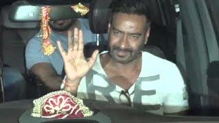 Ajay Devgan Waved At Media At Special Screening On Raid Spotted