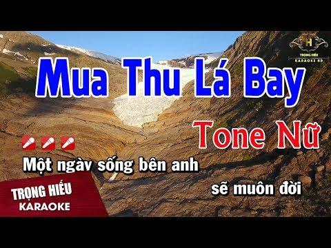 Karaoke Mùa Thu Lá Bay Tone Nữ Nhạc Sống | Trọng Hiếu