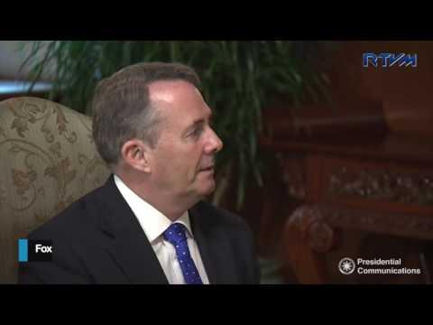 UK international trade secretary meets Duterte