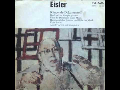 Hanns Eisler (1898-1962) - Über Brecht im Interview mit Hans Bunge, 1958