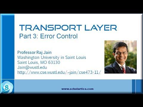 Transport Layer: Error control