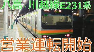 八高線E231系3000番台営業運転開始 JRE 231 EMU Hachikou Line thumbnail