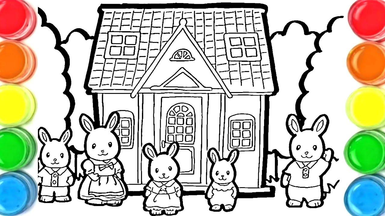 dessin et coloriage la famille sylvanian/ draw and color for kids TT32