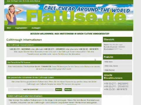 FlatUse.de Callthrough