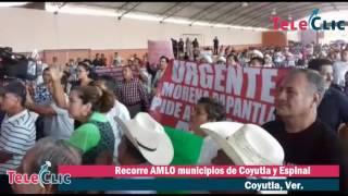 Recorre AMLO municipios de Coyutla y Espinal
