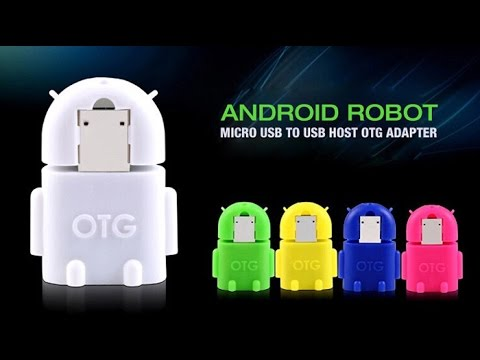 Android Robot Micro USB To USB Host OTG Adapter