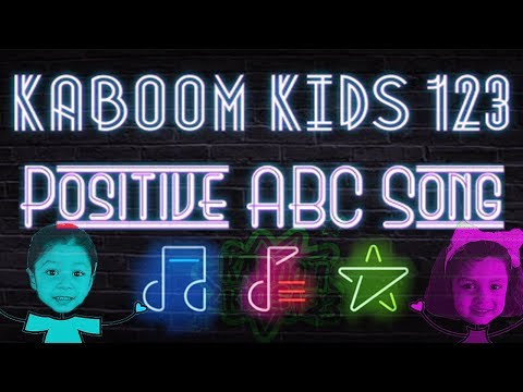 [KABOOM KIDS 123] Daddy Sings The Positive ABC Song + Public Domain Videos 🎼🎶📽️