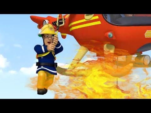 Sam le Pompier en Fran�ais Sam volant de l'h�licopt�re!   Compilation   Dessin anim�