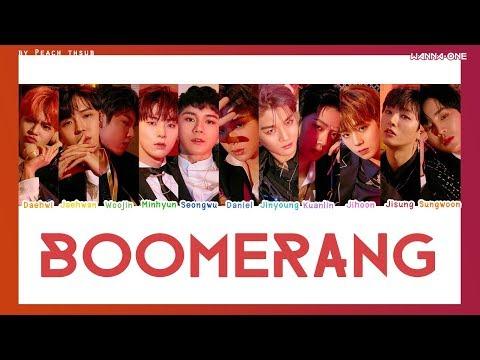[COLOR CODED/THAISUB] WANNA ONE - Boomerang #พีชซับไทย