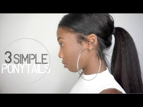 3 Simple & Easy Ponytail Clip in Hairstyles