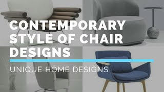 Modern Chair Designs || DIY Contemporary chair style ||