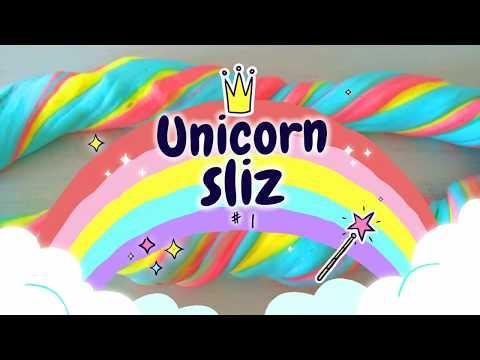 Zkouším můj první Unicorn Slime  #vavavu Unikorn  Sliz 1