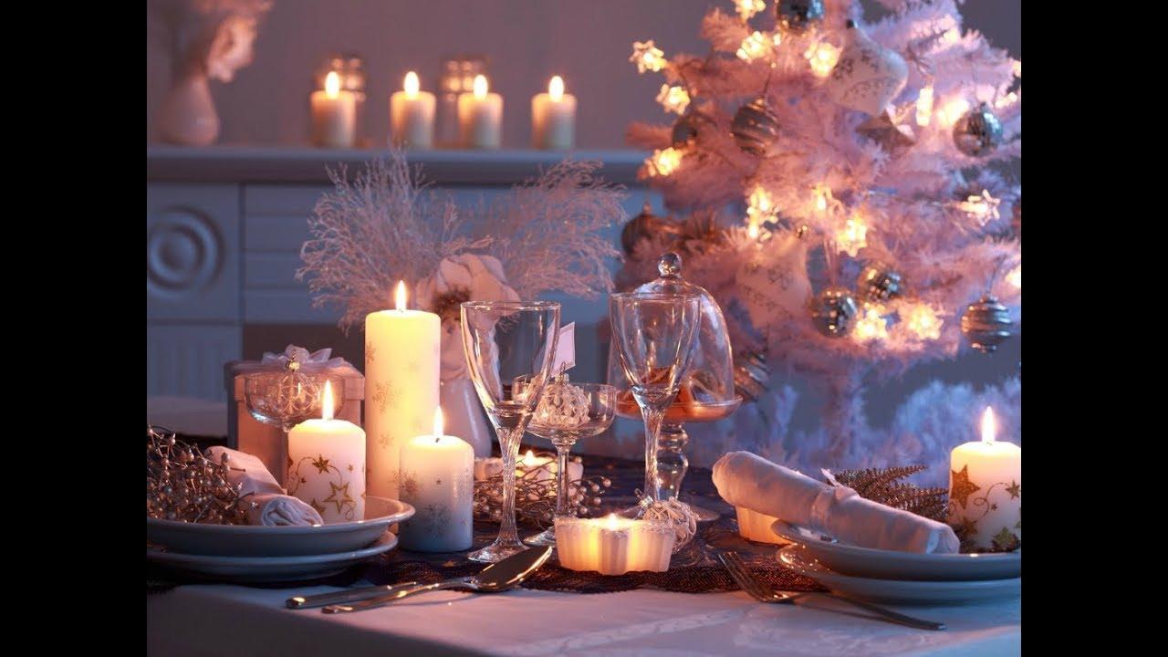 Как украсить новогодний стол? Праздничная сервировка стола.
