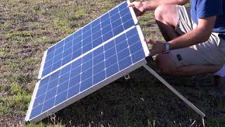 Take your 12v camping system to the next level with an Adventure Kings Folding Solar Panel