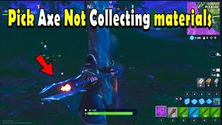 Fortnite sprint bug/Pick axe not collecting materials bug 2019 Season 8