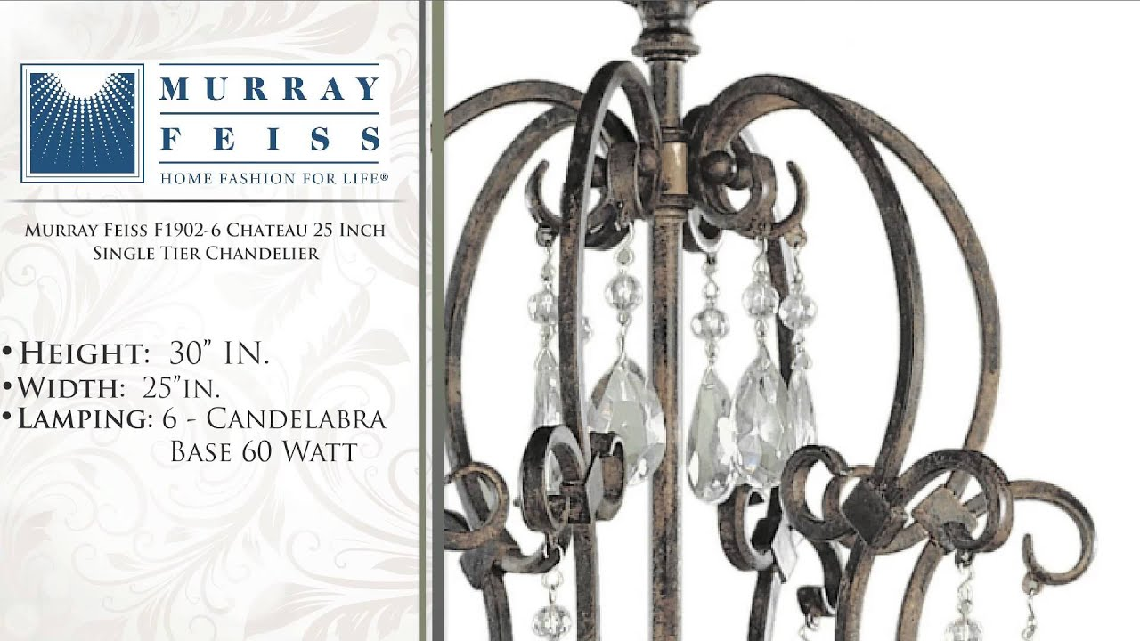 Murray feiss f1902 6 chateau 25 inch single tier chandelier youtube murray feiss f1902 6 chateau 25 inch single tier chandelier aloadofball Gallery