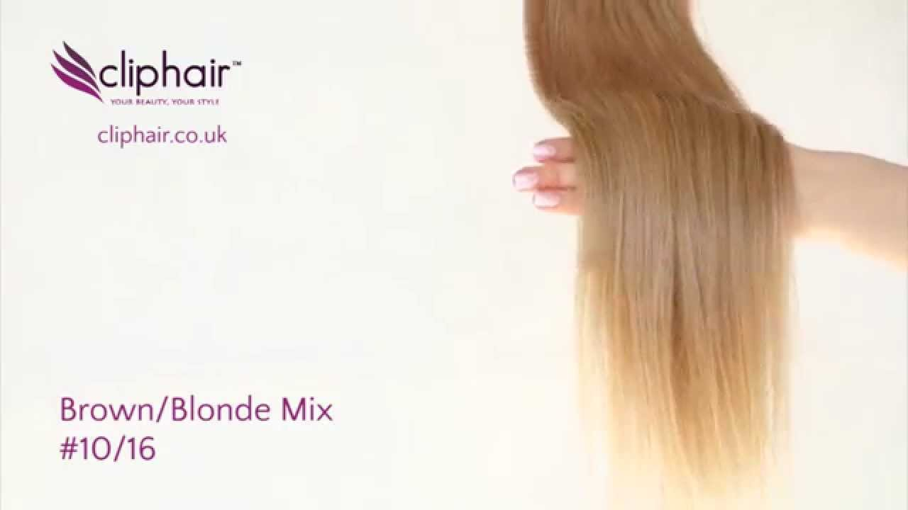 1016 Brownblonde Honey Blonde Highlighted Hair Extensions Youtube