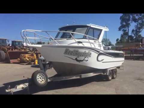 GA0430 - 2015 Assassin 710 Dhu Fish Hardtop Aluminium Boat with Trailer