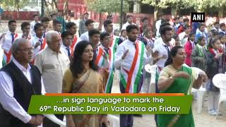 Republic Day: Differently abled students sing national anthem in sign language