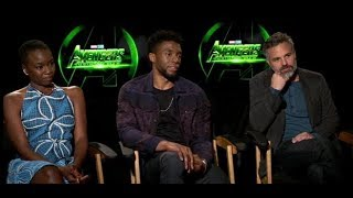 Avengers Infinity Wars Interview with Mark Ruffalo, Chadwick Boseman, Danai Gurira