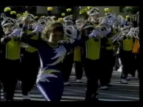 Michigan Marching Band in the 1998 Rose Parade