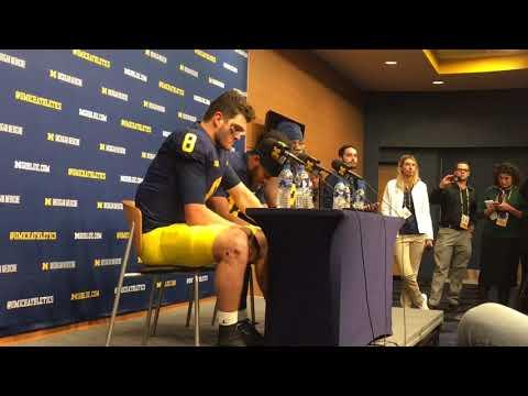 Michigan quarterback John O'Korn near tears, takes blame after loss to Ohio State
