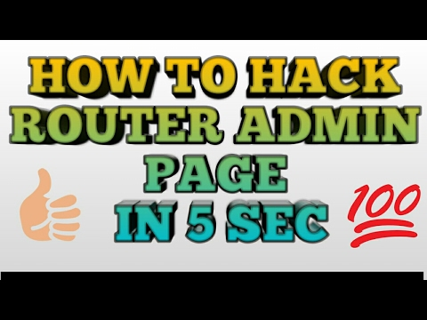How to hack router login page 100% proof