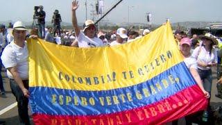 Miles llegan a megaconcierto en la frontera con Venezuela