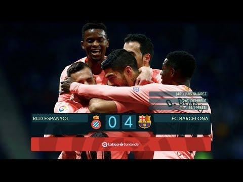 Espanyol vs Barcelona [0-4], La Liga 2018/19 - MATCH REVIEW