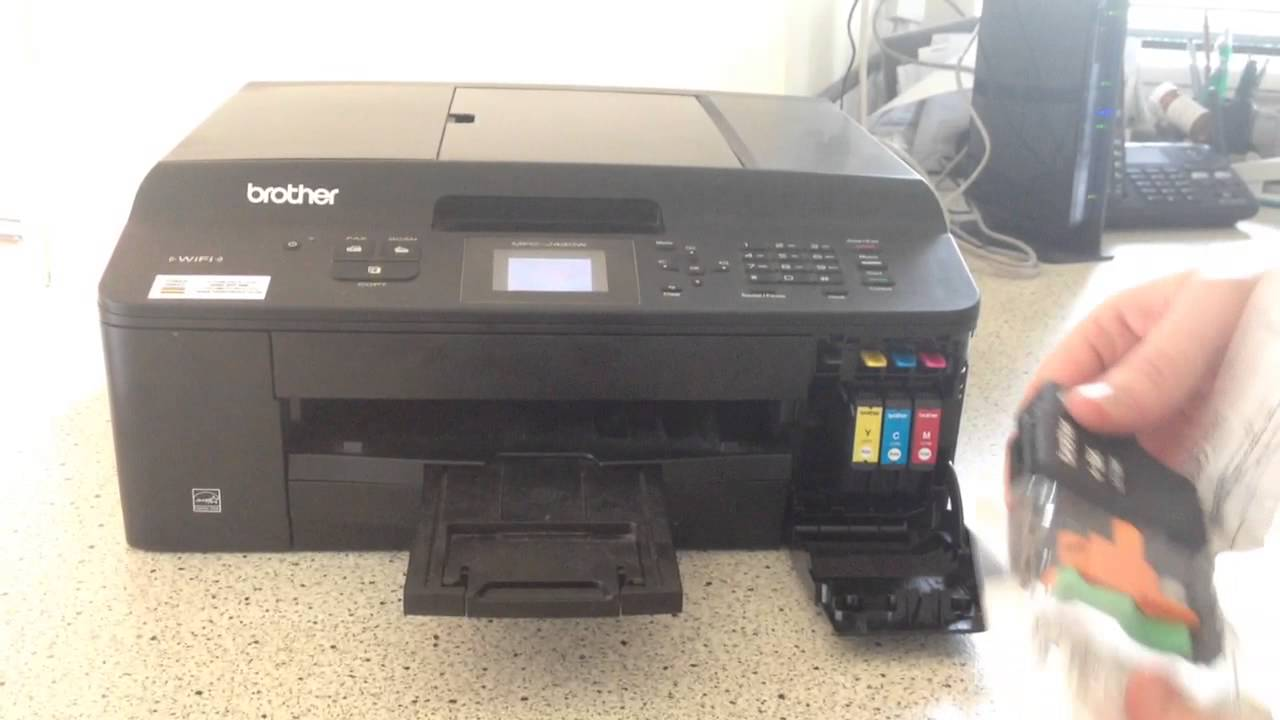 How to change a ink cartridge on a ink jet brother printer